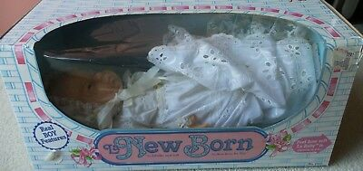 """Vintage """"La New Born"""" baby boy by Berjusa for Barval, 1986, 16"""" tall"""
