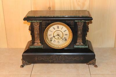 Antique Seth Thomas Adamantine 8 Day Mantle Clock ~ c.a. 1900 ~ Running Cond.