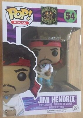 Funko Pop Rocks Jimi Hendrix 54 Purple Haze Properties