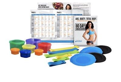 80 Day Obsession Accessories Portion Control Containers Calendar Loops Booties