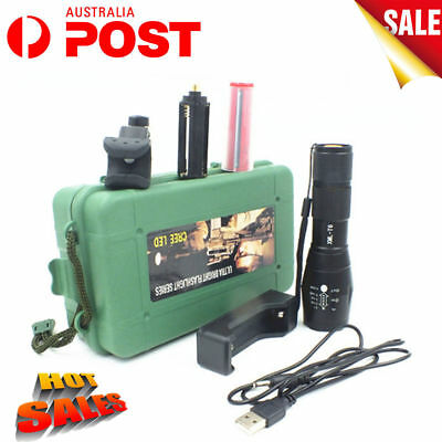 10000LM LED Flashlight CREE T6 Tactical Rechargeable Torch 18650 Battery Mount