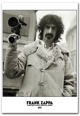 "Frank Zappa Banned The Roya Albert Hall, London 1971 Fridge Magnet 2.5"" x 3.5"""