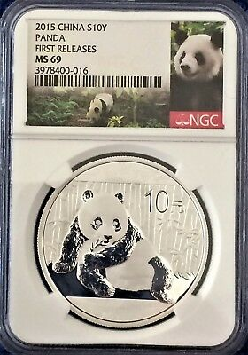 2015 China S10Y Panda First Releases Ngc Ms69