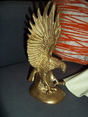 Brass American Eagle Figurine Paperweight Heavy Claws Talon US President Vintage
