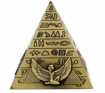 Metal Vintage Egyptian Pyramids Figurine Building Statue Home Office Decor Gift