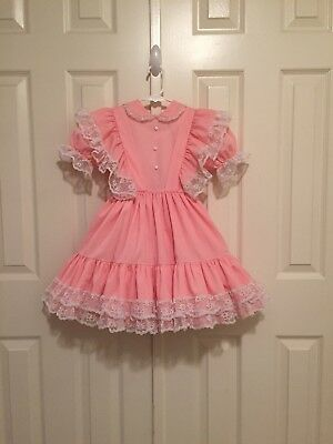 VTG - Pink Fancy Frilly Ruffled Party Dress - size 4T