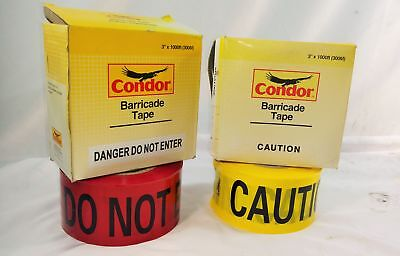 "Condor Barricade Tape 3"" x 1000FT"