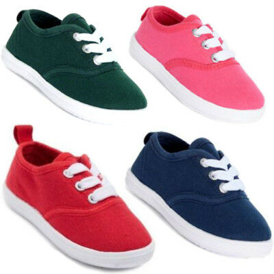 New Baby Toddler Girls or Boys Sneakers Canvas Shoes 4-9