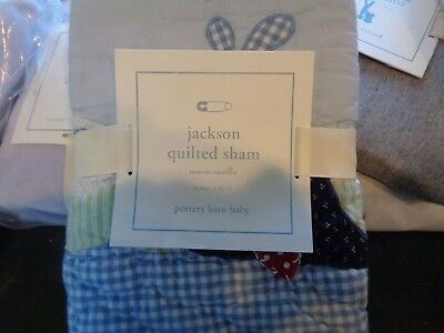 Pottery Barn Kids crib Jackson Whale  small quilted  sham  New
