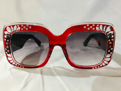 4458f1e96403 NEW $770 AUTH GUCCI Women's Lips 41mm Cat Eye Sunglasses GG4287 W ...