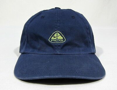 VTG 90s Nike ACG Strapback Hat Cap Swoosh Conditions Gear Max Air USA Wave Sport