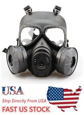 USA masks Gas Mask Double Filter Fan CS Edition Perspiration Dust Face Guard
