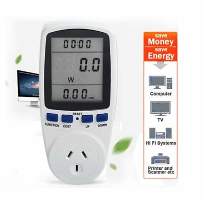 AU Plug Power Energy Consumption Watt Meter Electricity Usage Monitor Socket PT