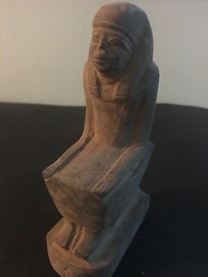 Rare Large Ancient Egyptian Seated Queen Hatshepsut Statue (1479-1457 BC)