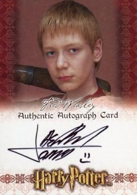 The World of Harry Potter 3D James Phelps Autograph Card