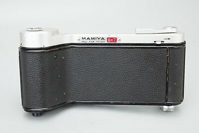 Mamiya 6x7 Roll Film Back Holder Converted to 35mm Film, Silver, Film Holder