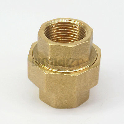 "3/4"" BSP Female Brass Pipe Union Connector Coupling Plumbing Fitting"