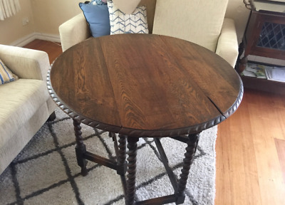 Antique fold down table extendable dining table