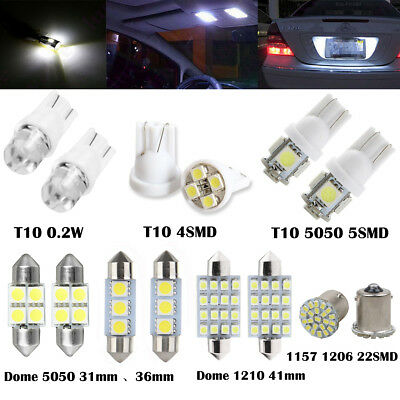 14PC Car LED Lights Interior Package 1157 T10 31 36mm Map Dome License Plate Set
