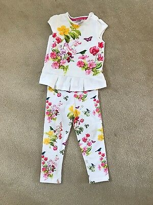 ted baker baby floral leggings and top set size 12-18month