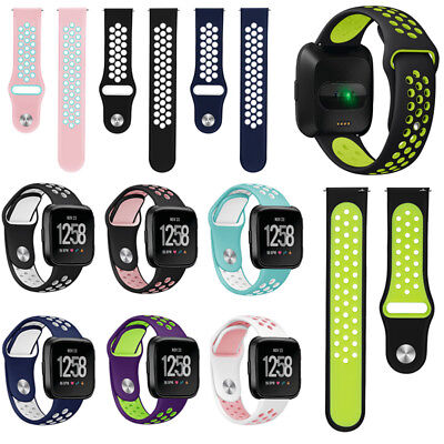 US Silicone Sport Classic Sport Band Strap Wristband For Fitbit Versa / 2 / Lite