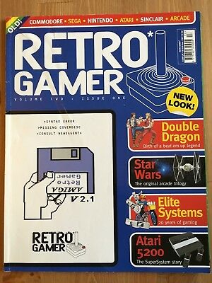 Retro Gamer Magazine Issue 1 including Disc