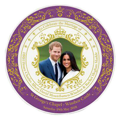 Royal Wedding Prince Harry Meghan Markle Commemorative 15 cm Plate with Stand