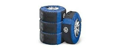 "Spare Wheel & Tyre Storage Bags x4 up to 18"" 000073900 Max 2100m circ Genuine VW"