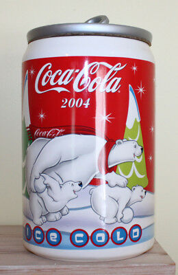 Coca Cola Coke Cookie Jar 2004 Ice Cold Polar Bears Houston Harvest Can Winter
