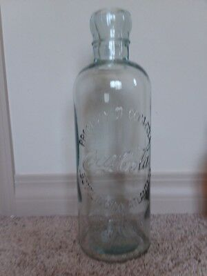 "Coca Cola Coke 20"" Glass  Hutchinson Display Bottle  Huge!!"