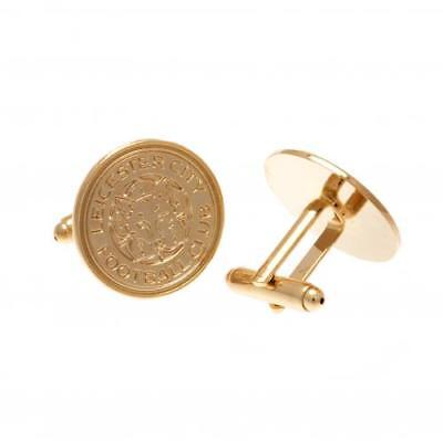 Leicester City FC Gold Plated Cufflinks Football Club Fan Player PRESENT GIFT