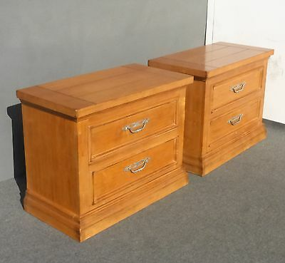 Pair Vintage DREXEL French Country Cottage NIGHTSTANDS