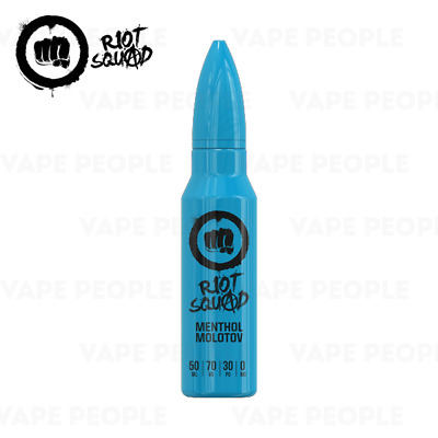 Menthol Molotov vape liquid by Riot Squad - 50ml Short Fill