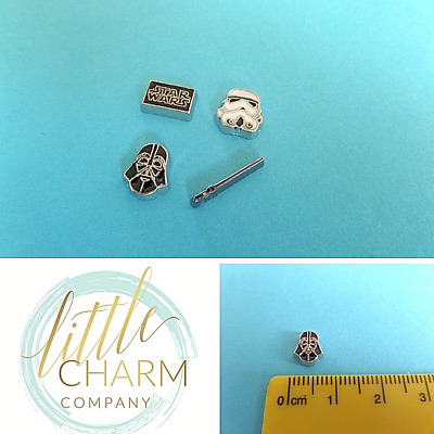 Star Wars floating charms for glass lockets Buy 3 get 4th FREE (add 4) bx1 UK