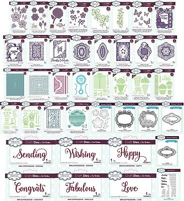CREATIVE EXPRESSIONS - Sue Wilson Dies, Stamps APRIL 2018  Choice of