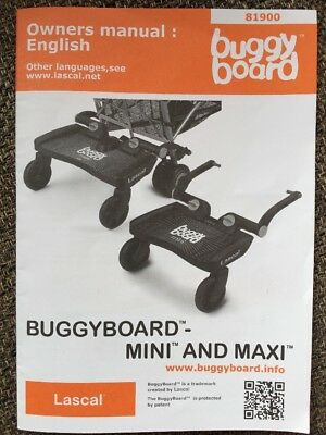 Lascal Buggy Board Maxi And Mini 15 Page Manual Parts List Etc