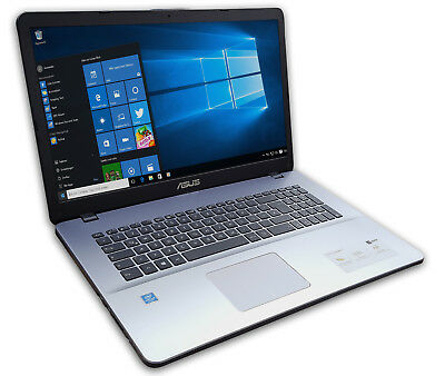 ASUS Notebook 17 Zoll HD+ Quad Core 4 x 2,7GHz 4GB 500GB Win10 Office 2016
