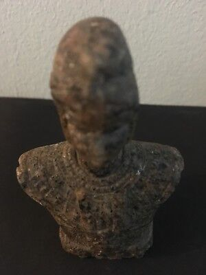 Rare Ancient Egyptian Faience Granite Bust (945-715 BC.)