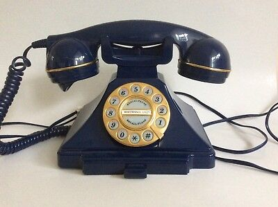 Blue old fashioned telephone Whitehall 1212, fully working.