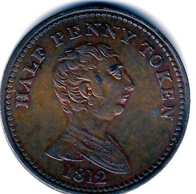 Non - local  George III  Half  Penny Token 1812  Royal  Exchange