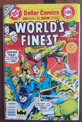World's Finest 245 DC comic ~F 1977 Batman Superman