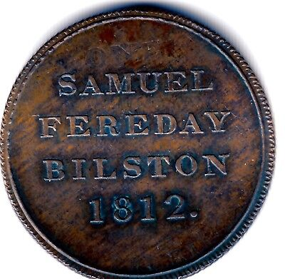 Very Rare Bilston One Half Penny 1812 S.Fereday  ( Proof like )