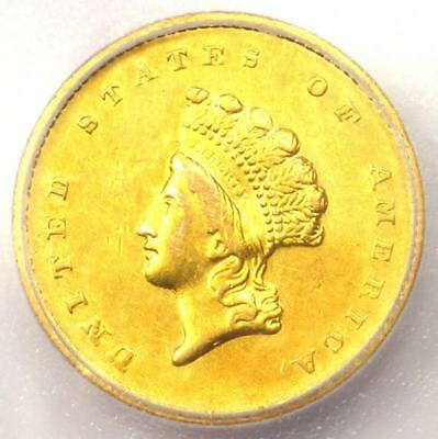 1855-O Type 2 Indian Gold Dollar (G$1 Coin) - Certified ICG AU58 - $4,830 Value!