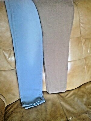 2 Pairs Soft Stretchy Slim Leg Jeans Size 16