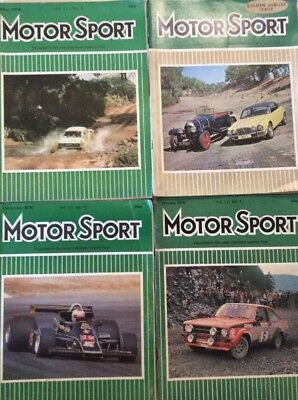 Four Motor Sport Magazines Including Golden Jubilee Issue.