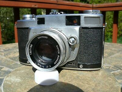 Vintage Minolta Super A Rangefinder Camera As-Is Parts Or Repair