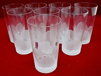 """CRISTAL d'ARQUES Durand crystal FLORENCE pattern HIGHBALL GLASS 5-1/2"""" set of 8"""