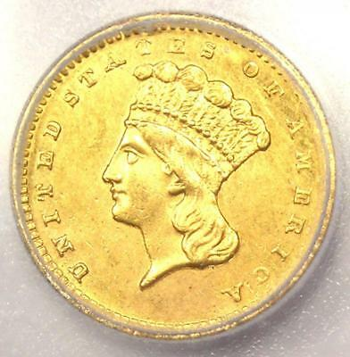1860-S Indian Gold Dollar (G$1 Coin) - Certified ICG MS60 (UNC) - $2,750 Value!