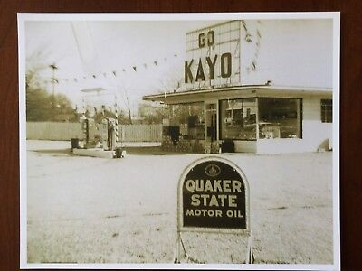 Vintage 1950s Gasoline Service Old Gas Station Photo Collectible Photo Print