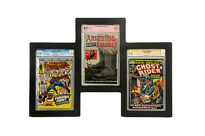 Triple Graded Comic Book POD Frame CGC CBCS Wall Hanging Display Great Quality!